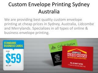Custom Envelope Printing Sydney Australia