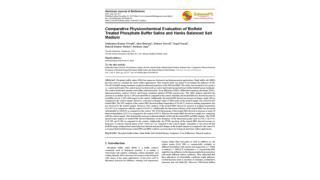 Comparative Physicochemical Evaluation of Biofield Treated Phosphate Buffer Saline and Hanks Balanced Salt Medium