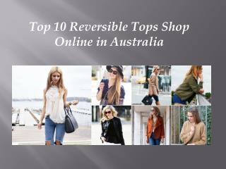 Top 10 reversible tops shop online in australia