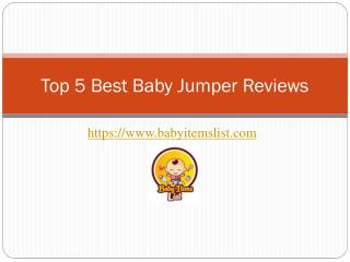 Top 5 Best Baby Jumper Reviews