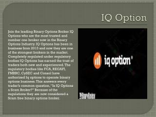 IQ Option Review | Use their own trading platform | Free Demo | Binary Trading Global