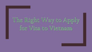 The Right Way to Apply for Visa to Vietnam