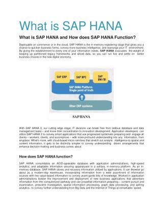 SAP HANA Training in Delhi
