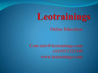 data science online training course  in hyderabad,india,uk,usa | leotrainings