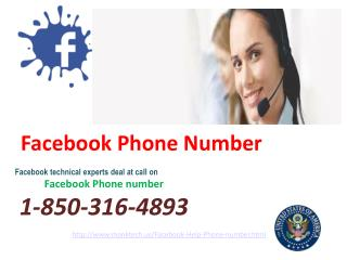 How does Facebook Phone Number go about as a deliverer? call 1-850-316-4893