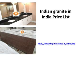 Indian granite in India Price List