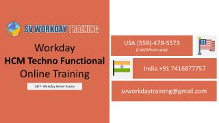 Real Time Workday HCM Techno Functional Online Training ||SV Workday Training