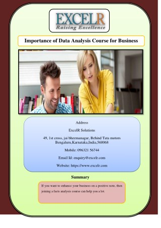 Importance of Data Analysis Course for Business