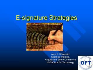 E-signature Strategies