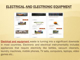 Electrical and Electronic Equipment