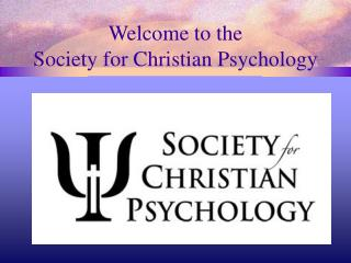 Welcome to the Society for Christian Psychology