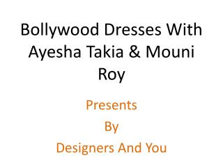 Bollywood Heroine Mouni Roy & Ayesha Takia Style Designer Anarkali Salwar Kameez Dress/Gown Fashion