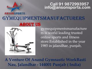 Fitness Equipment's Manufacturers in India - Gymequipmentsmanufacturers