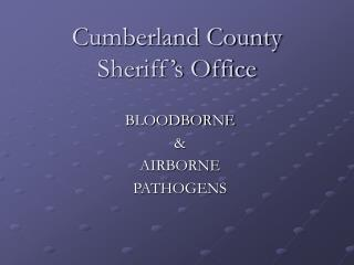 Cumberland County Sheriff s Office