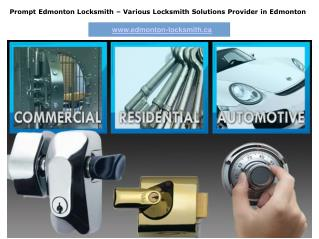 Affordable Locksmith Services In Edmonton