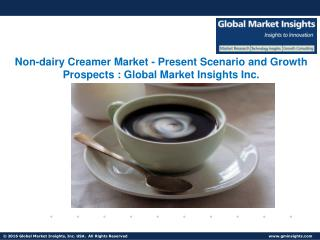 Non-dairy Creamer Market Growth, Industry Analysis Report, Regional Outlook, 2017 – 2024