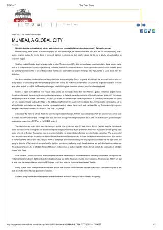 Mumbai,A Global City - Times Property