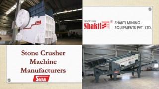 Stone Crusher Machine Manufacturers