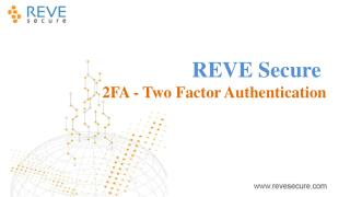 Two Factor Authentication for the UNIX/Linux Server Security- REVE SECURE