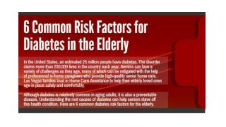 6 Common Risk Factors for Diabetes in the Elderly