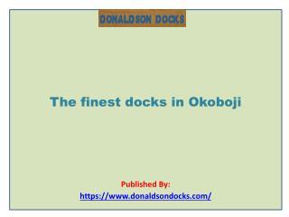 The finest docks in Okoboji
