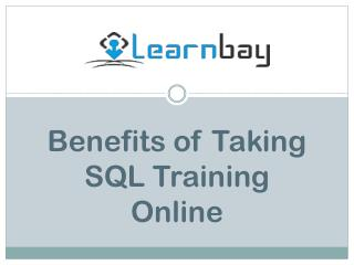 Benefits of Taking SQL Training Online