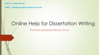 Get Best Dissertation Help Online in Australia