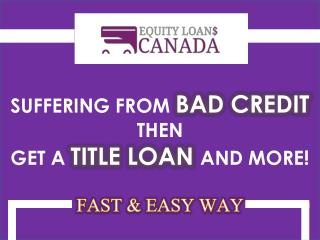 Get Bad Credit Car Loans in Toronto