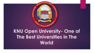 KNU Open University- One of The Best Universities in The World