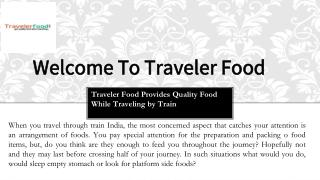 Looking For The Best Food on Train in India