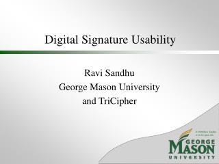 Digital Signature Usability