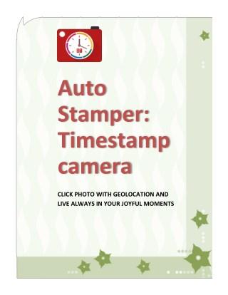 Camera app for Geo tagging
