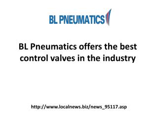 BL Pneumatics offers the best control valves in the industry