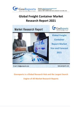 Global Freight Container Market Research Report 2021