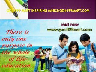GEN 499 MART Inspiring Minds/gen499mart.com