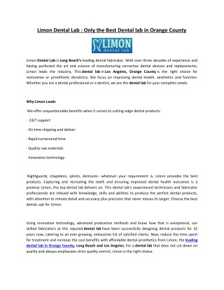 Denture Repairs Los Angeles - Limon Dental Lab