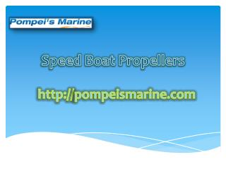 Speed Boat Propellers