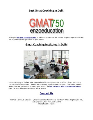 Best Gmat Classes in Delhi