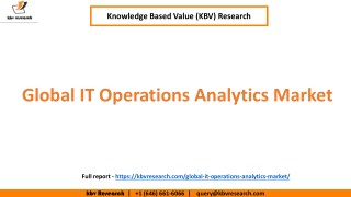 Global IT Operations Analytics Market Growth and market Trends