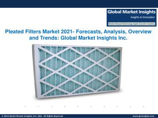 Pleated Filters Market growing at a CAGR of 6.5% from 2015 to 2022