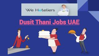 Search Online For Dusit Thani Jobs UAE