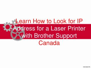 Learn How to Look for IP Address for a Laser Printer with Brother Support Canada
