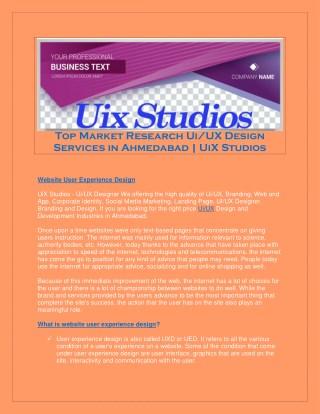Ui/UX | Branding Services in Ahmedabad | UiX Studios