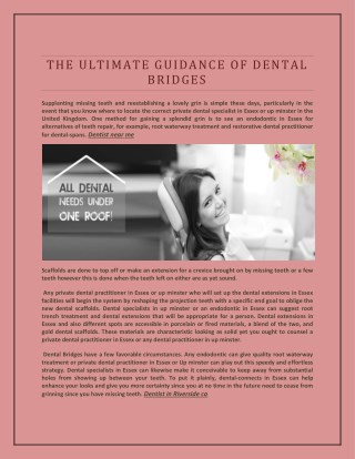 The Ultimate Guidance of Dental Bridges.
