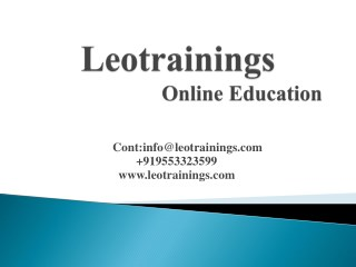 selenium Online training in Hyderabad | Leo trainings