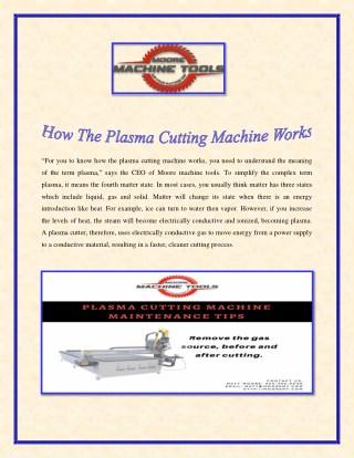 How The Plasma Cutting Machine Works