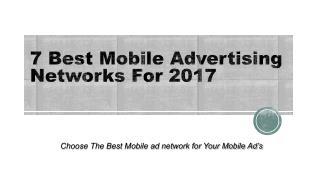 7 best mobile advertising networks for 2017