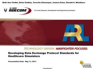 Developing Data Exchange Protocol Standards for Healthcare Simulators