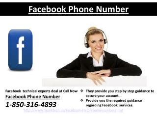 Facebook Phone Number: The best method to fix Facebook issues call 1-850-316-4893