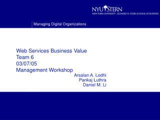 Web Services Business Value Team 6 03